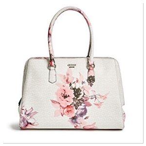 Guess Ashville satchel white floral handback
